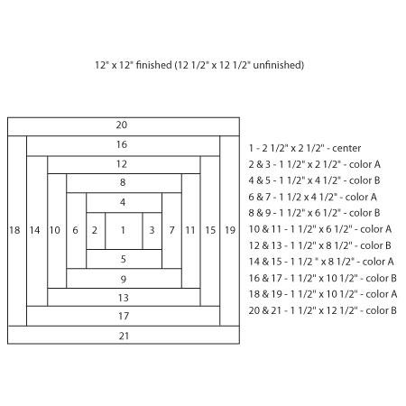 instruction:Piecing Diagram