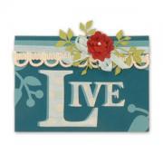 Live Flower & Vines Card