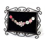 Buttons & Tattered Flowers Charm Bracelet