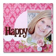 Happy Scrapbook Page