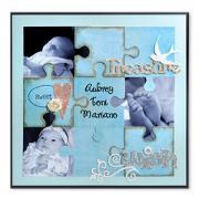 Treasure Puzzle Scrapbook Page