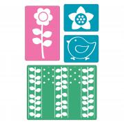 Sizzix Textured Impressions Embossing Folders 4PK - Spring Set