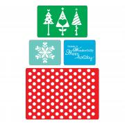 Sizzix Textured Impressions Embossing Folders 4PK - Winter Set