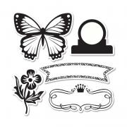 Sizzix Framelits Die Set 5PK w/Stamps - For the Record 2, Tailored