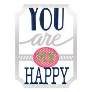 Sizzix Thinlits Die Set 4PK - Phrase, You Are My Happy