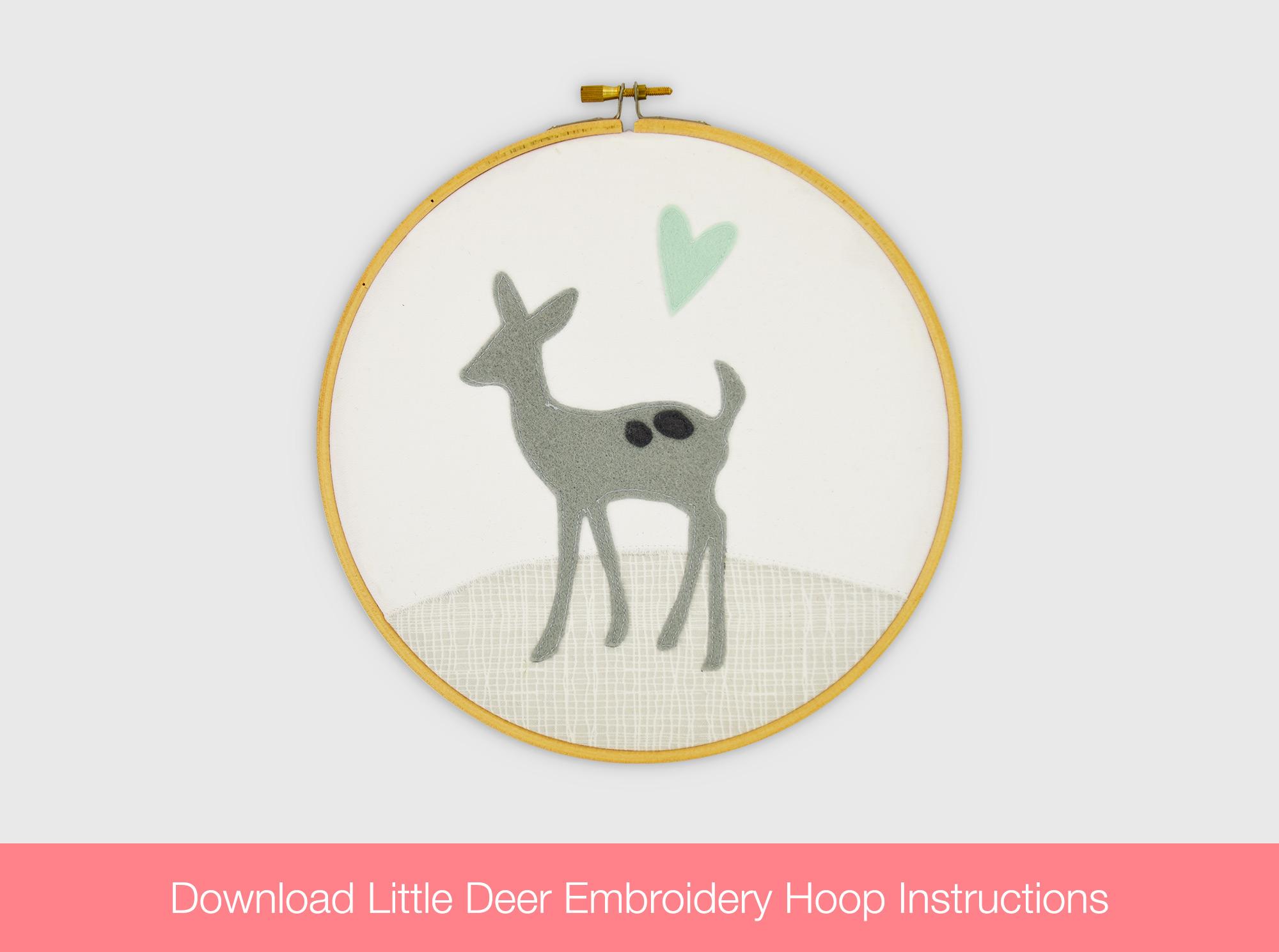 Little Deer Embroidery Hoop