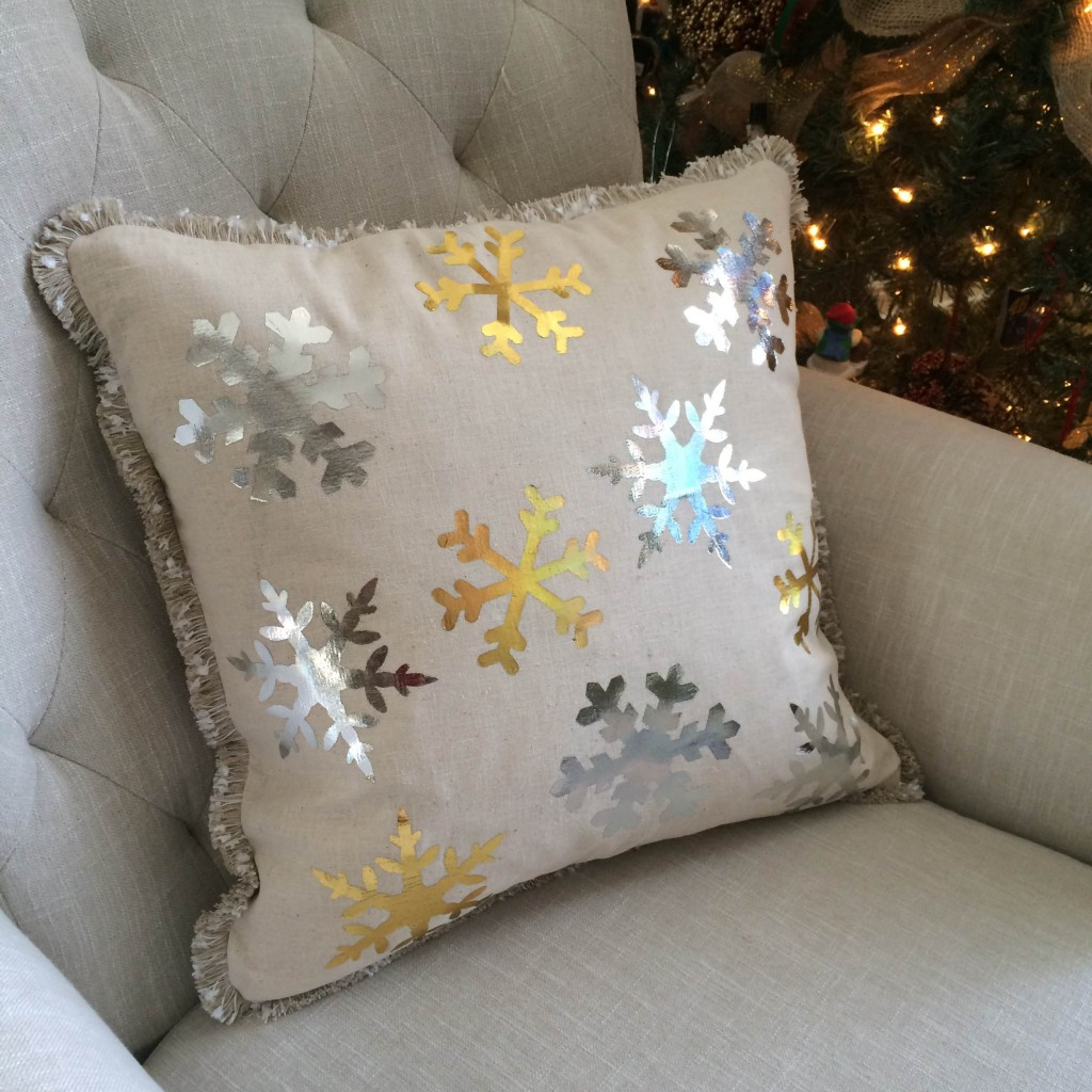 Deco Foil Pillow DIY: Snowflake Spectacular Home Décor!