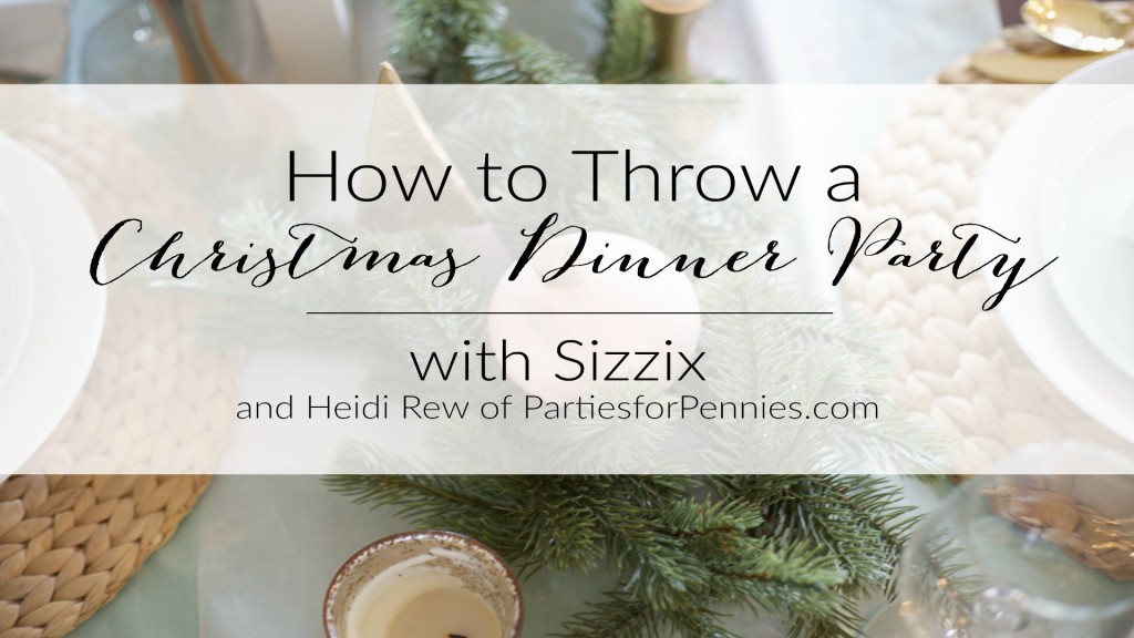 Christmas Dinner Party: Holly and Berries Food Pick