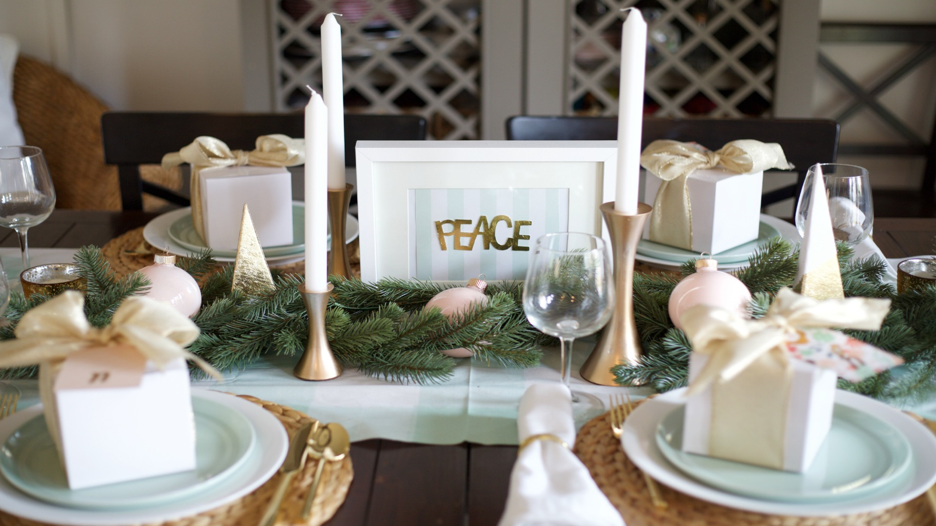 DIY Christmas Dinner Party: Foil Peace, Hope and Joy Project