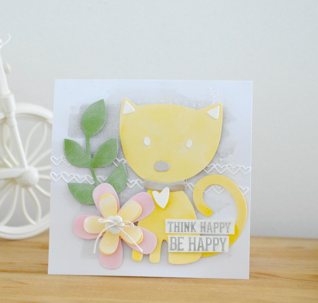 MIY Greeting Card: Think Happy, Be Happy