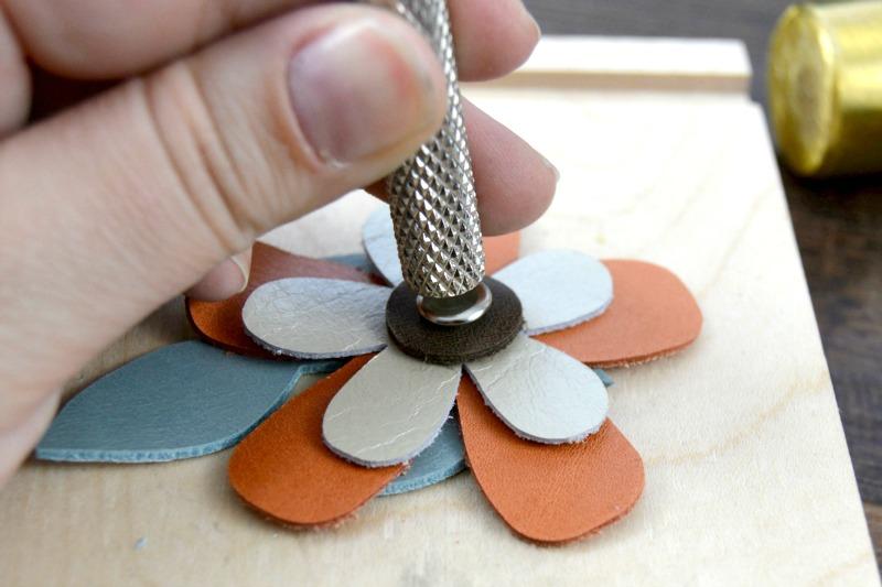 Leather Floral Hair Clip: A Springtime DIY