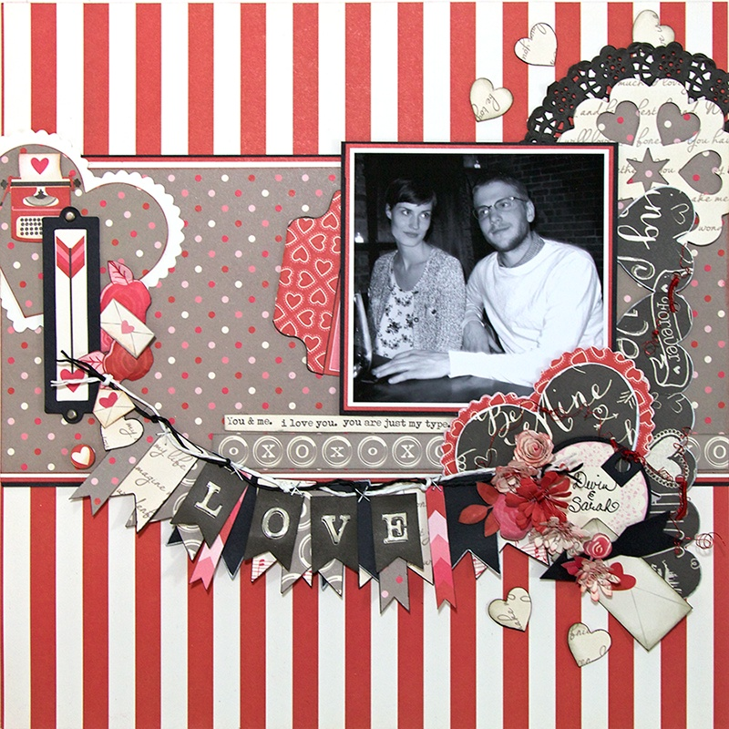Scrapbook Layout: Full of Hearts & Love