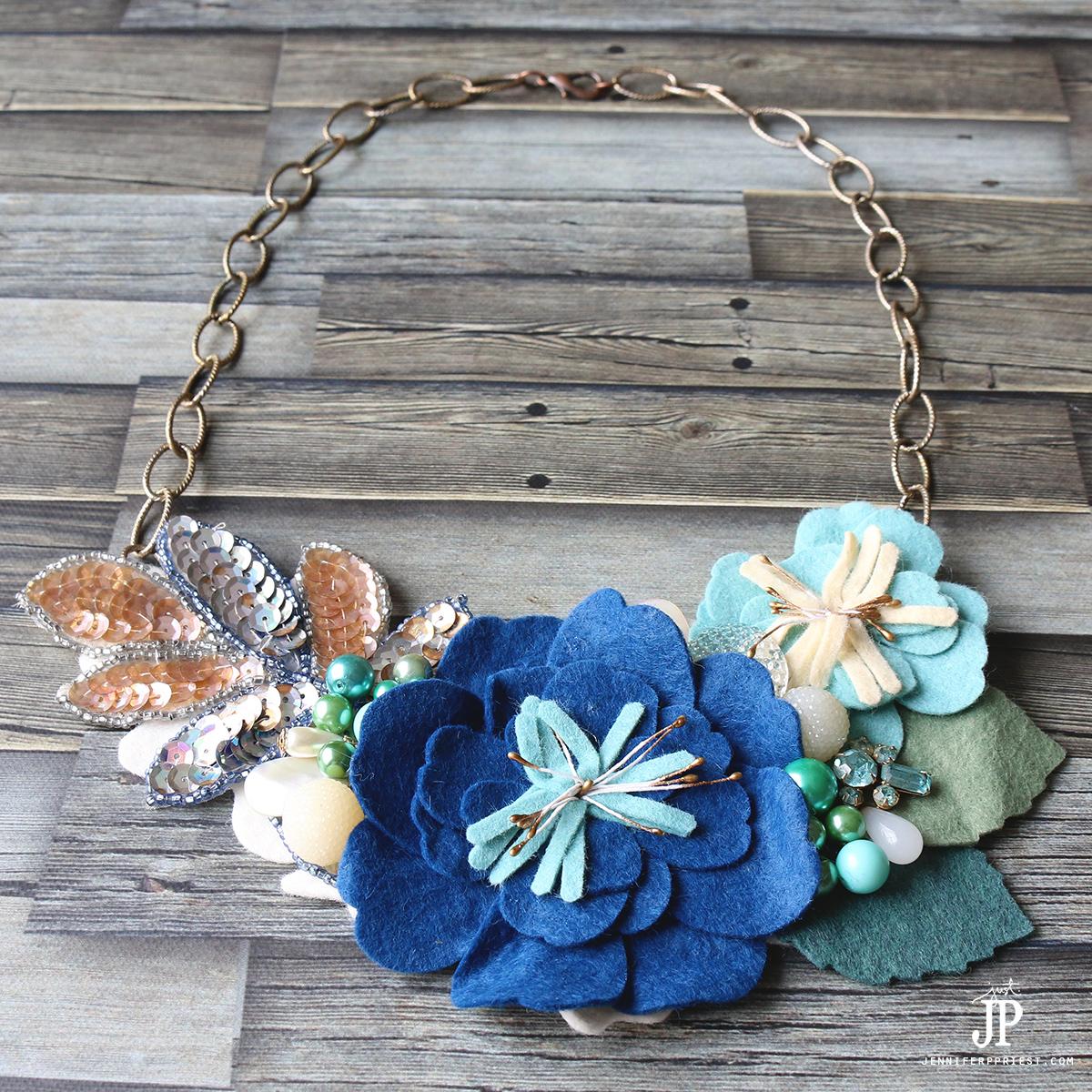 Jewelry MIY: Floral Bib Necklace