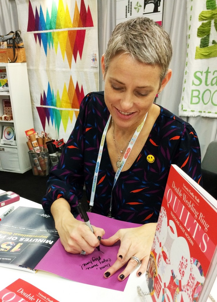 (Victoria Findlay Wolfe Book Signing Quilt Con 2015)