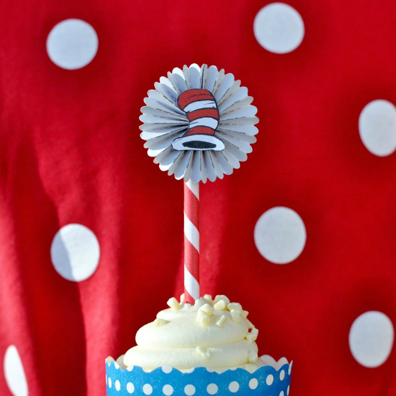 Cupcake Toppers: Celebrate With The Cat in the Hat