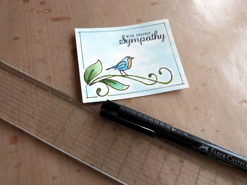 Watercolor Card: A Wonderful Make With Clear Stamps