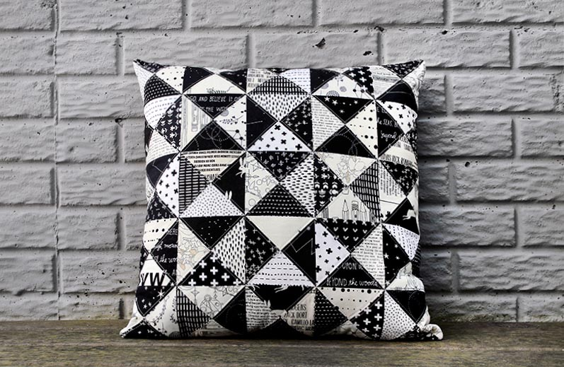 Be Bold With This Black & White Triangle Pillow DIY!