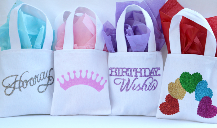 sizzix goody bags with glitter vinyl bag set