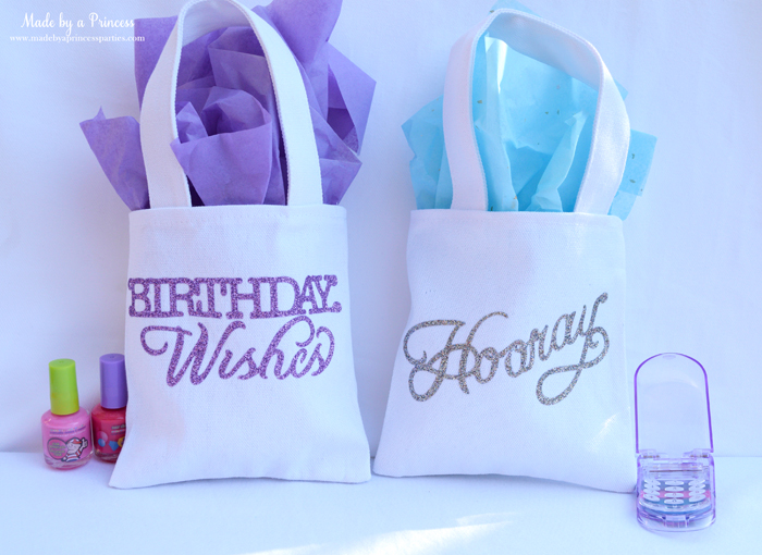 sizzix goody bags with glitter vinyl birthday wishes and hooray