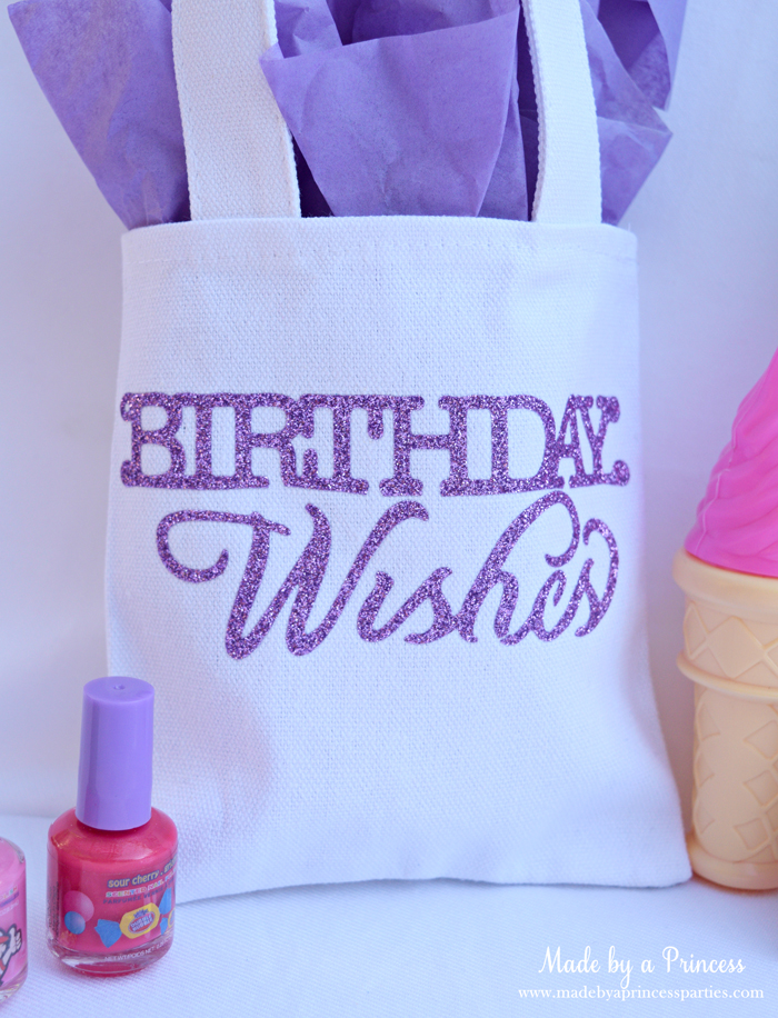 sizzix goody bags with glitter vinyl birthday wishes bag