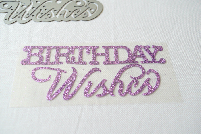 sizzix goody bags with glitter vinyl birthday wishes replace plastic sheet
