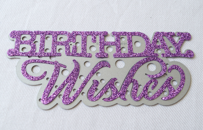 sizzix goody bags with glitter vinyl birthday wishes trimmed