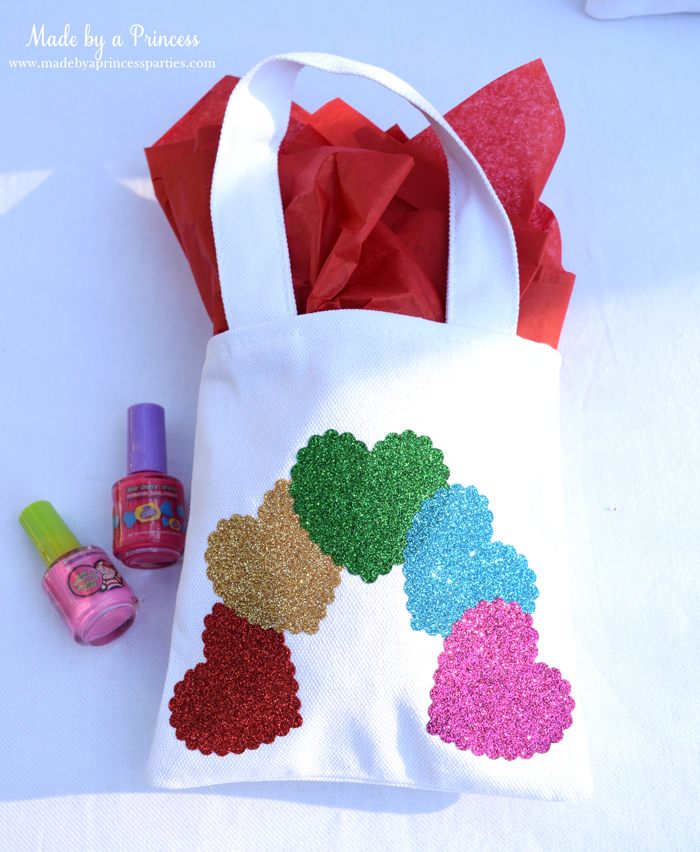 sizzix goody bags with glitter vinyl hearts bag