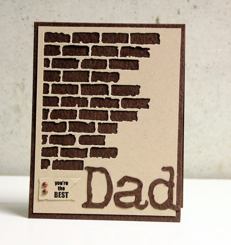 Father's Day Mixed Media Card: A Quick Make!