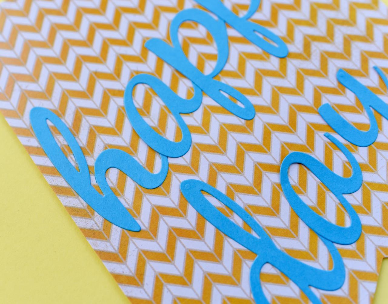 Yellow Skateboard Pattern Birthday Banner