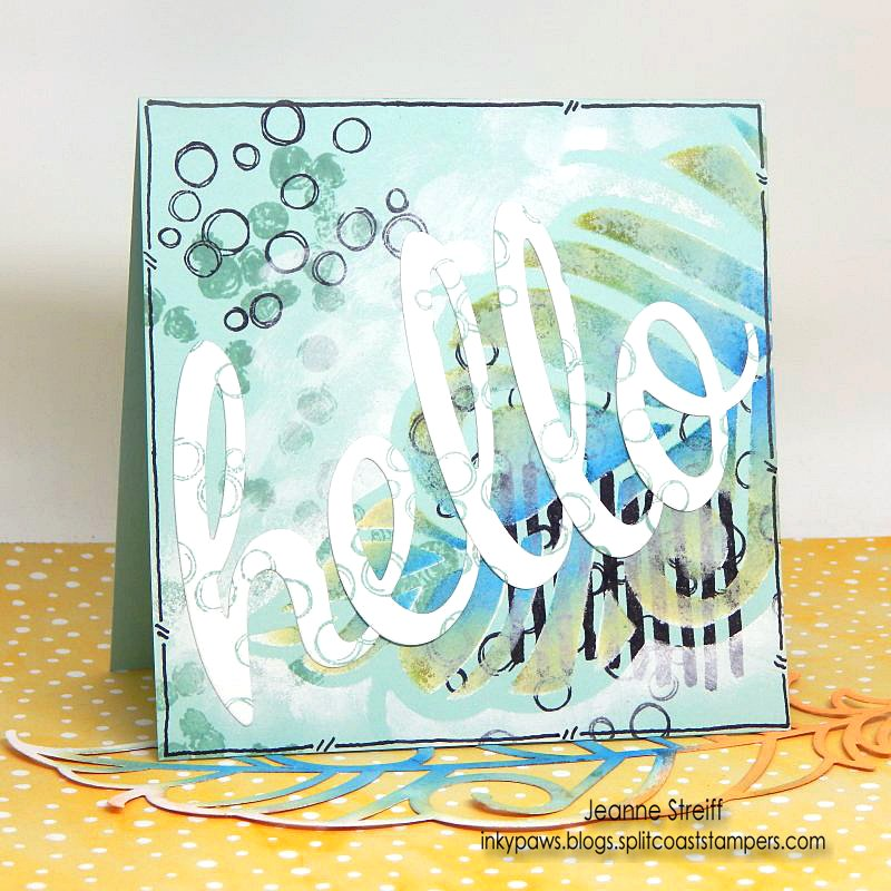 Say Hello With This Stenciled Card DIY