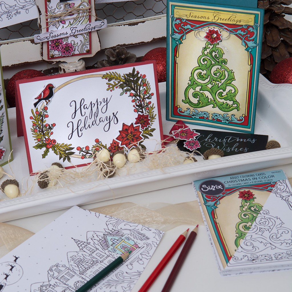 Available Now on Sizzix.com: Jen Long's Christmas in Color Collection