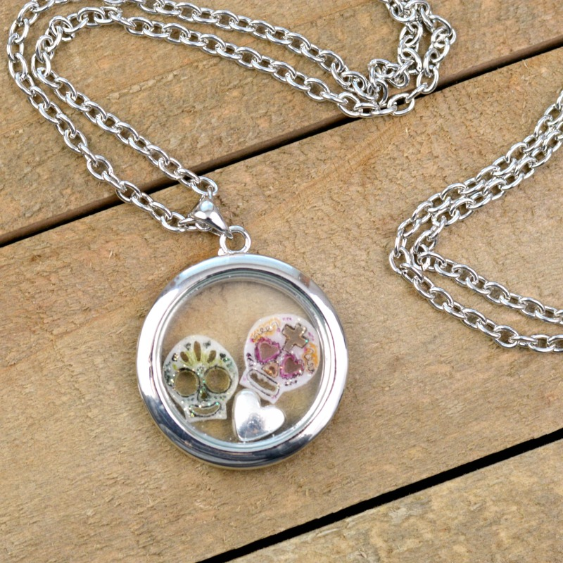 This Sugar Skull Memory Locket Is A Perfect Saturday DIY!
