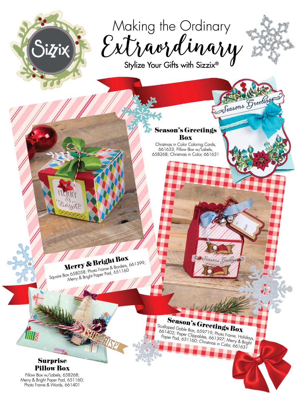 Ssshhhsneak Peek Of Sizzix Holiday Gifts Sizzix Blog