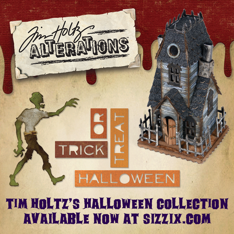 Available Now on Sizzix.com: Tim Holtz's Halloween Collection