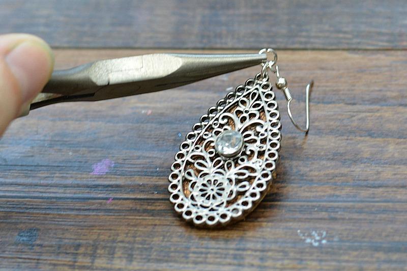 Embellished Leather Teardrop Earrings 7