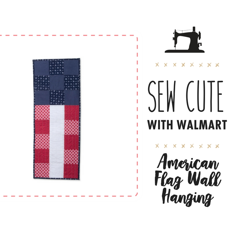 Sew Cute with Walmart: American Flag Hanging