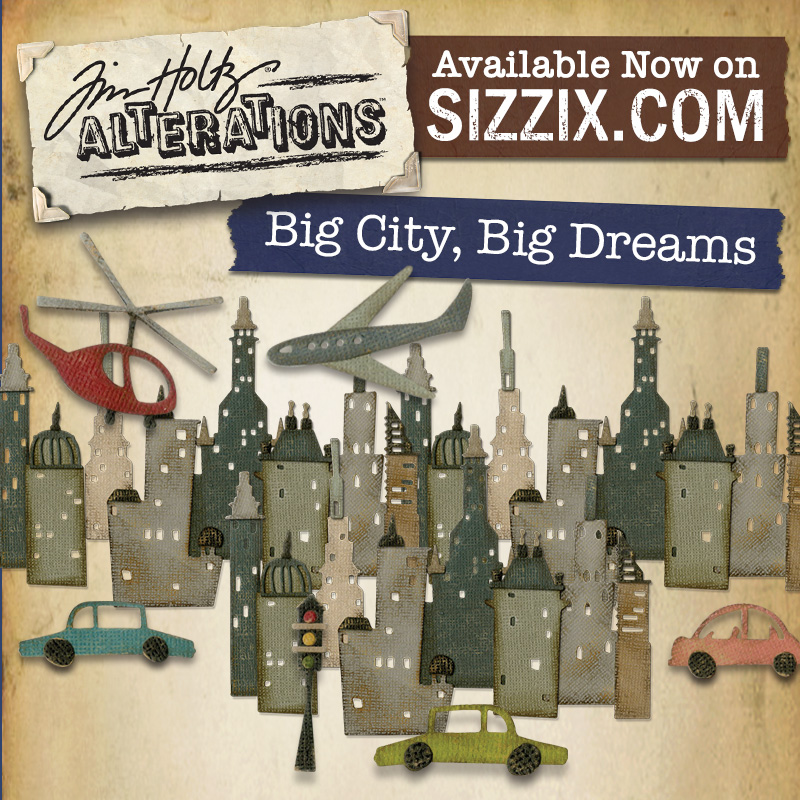 Sizzix Tim Holtz Alterations Collection Thinlits Die Cityscape Suburbia