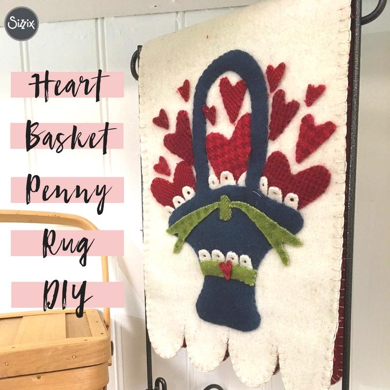 Heart Basket Penny Rug DIY