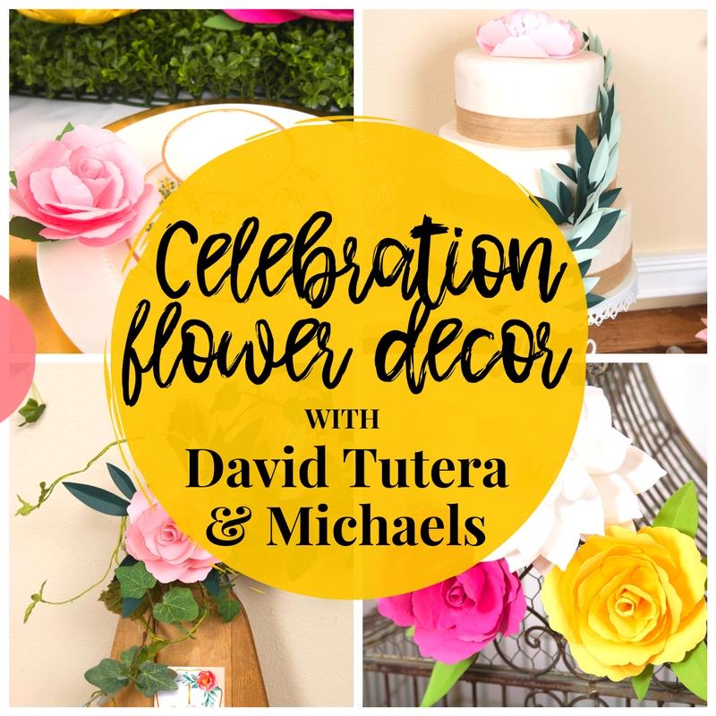 Celebration Flower Decor With David Tutera And Michaels!