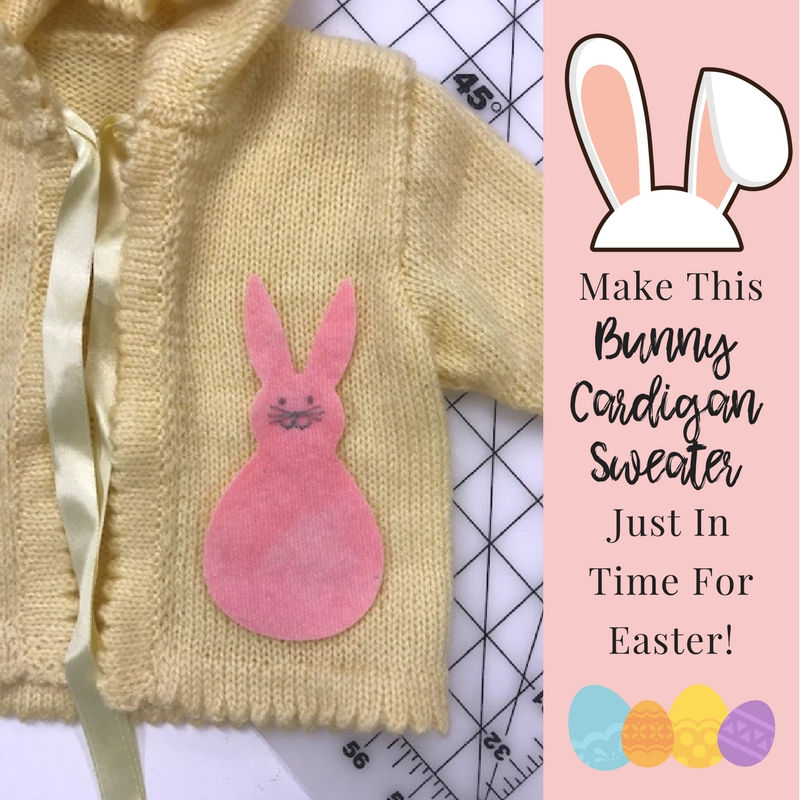 Make This DIY Bunny Cardigan Sweater Just In Time For Easter!