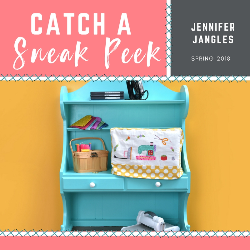 Catch a Sneak Peek of Jennifer Jangle's Quilt Dies for Spring 2018!