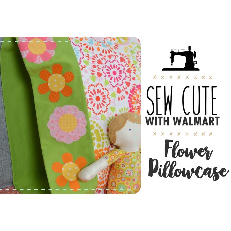 Sew Cute With Walmart: Flower Power Pillowcase!