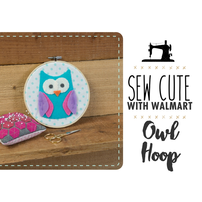 Sew Cute With Walmart: Hooped Owl Quilt Blog
