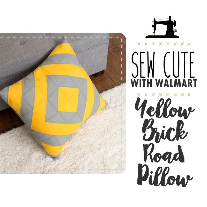 Sew Cute With Walmart: Yellow Brick Road Pillow