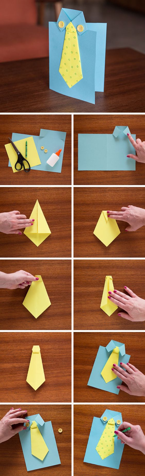 Origami Shirt Tie Card Be Creative With This Styled Thats Fun And Interactive Customize The Colors Designs