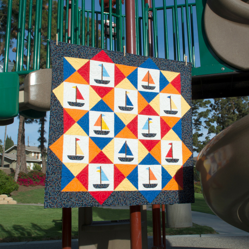 Get Windswept With This Adorable Sailboat Quilt!