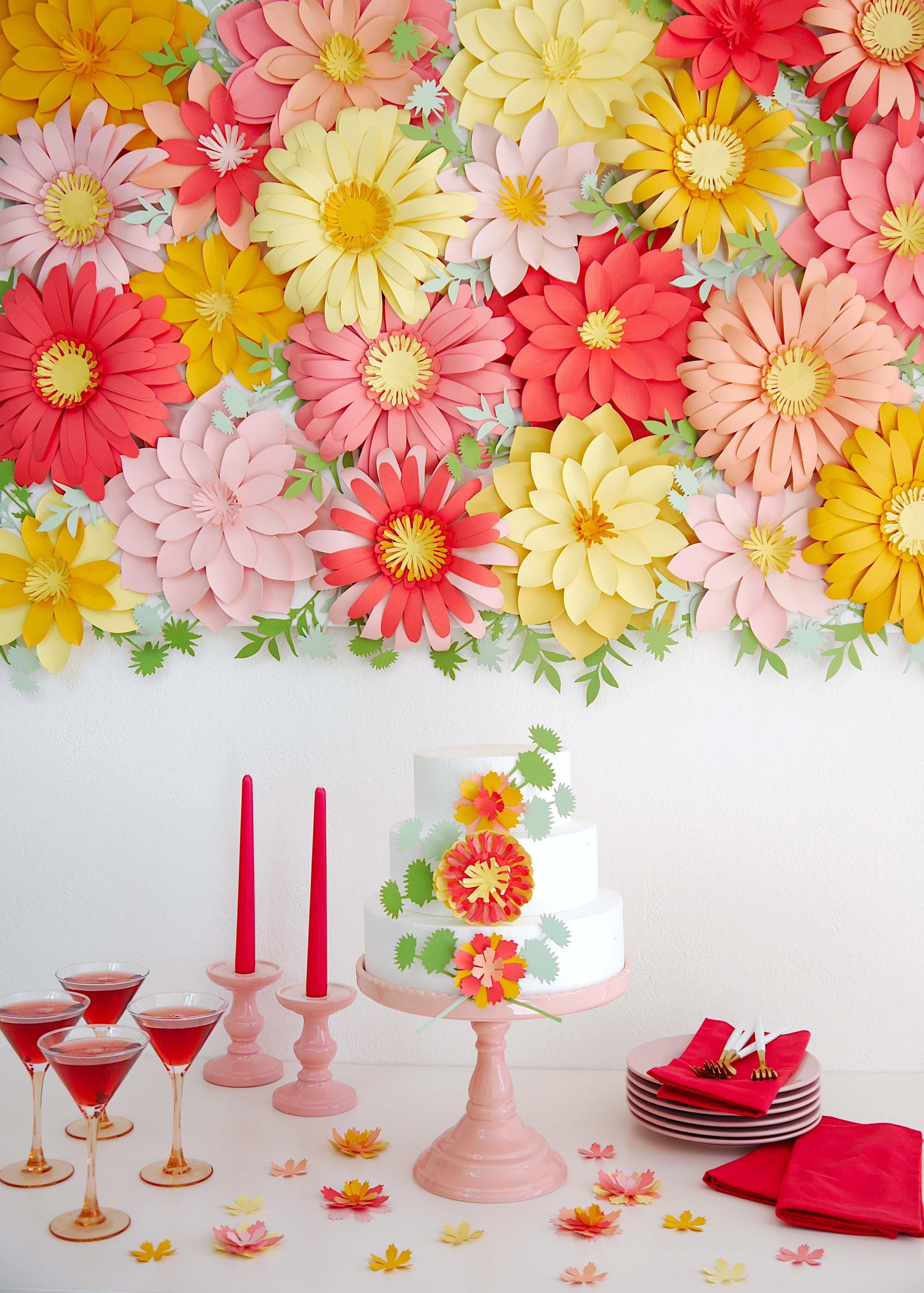 Make This DIY Floral Backdrop!