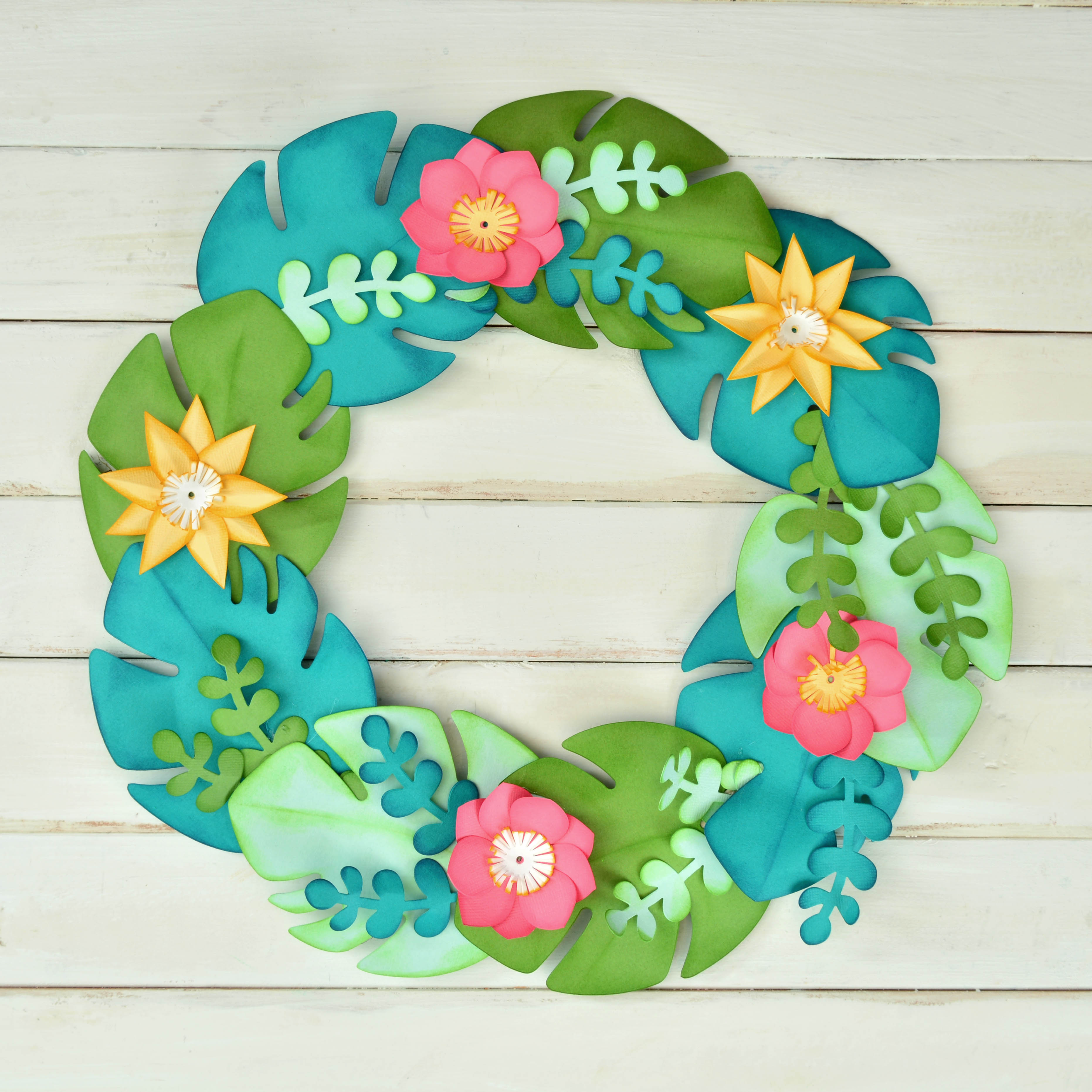 How To Make This Tropical Wreath Sizzix Blog The Start
