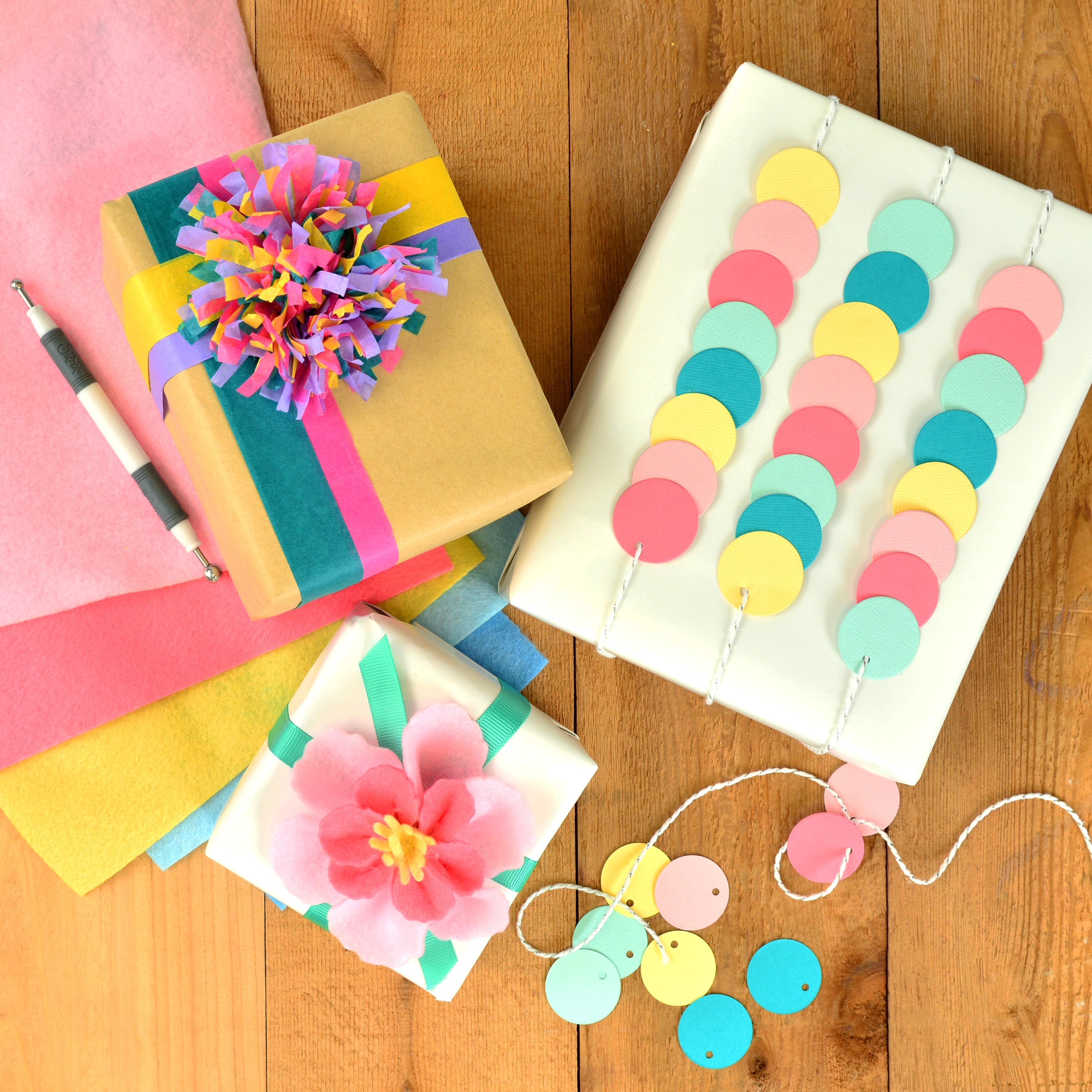 How To Make Your Own Creative Gift Wrap Sizzix Blog The Start
