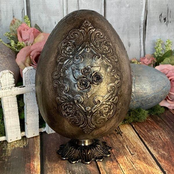 Fanciful Vintage Metal Easter Egg